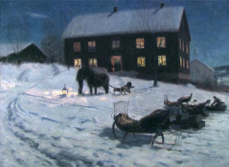 «Julegilde» av Lars Jorde, 1895, i dag i Nasjonalmuseet.