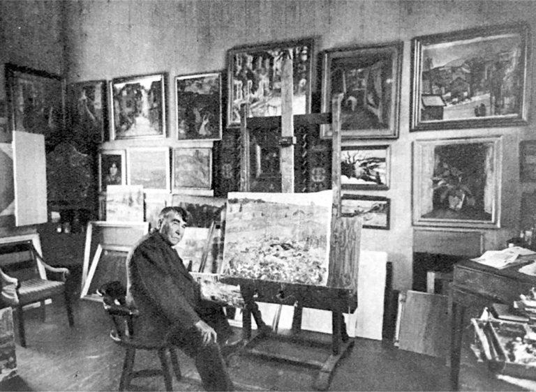 Lars Jorde flyttet inn i 1915 og levde og malte her til sin død i 1939.